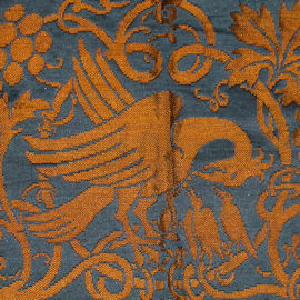 The Pelican in her Piety woven silk