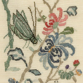 Embroidered silk gauze