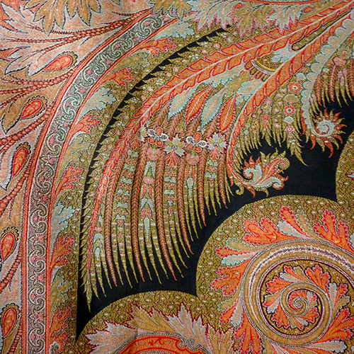 Woven Shawls of Paisley Design