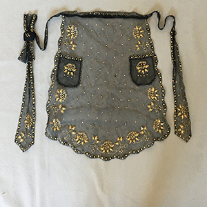 Swiss Straw work Apron c 1860