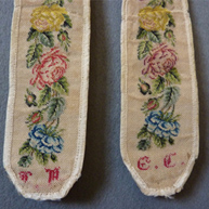 Embroidered Braces  1830's
