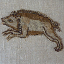Leaping Boar <i>slip</i> 17th c