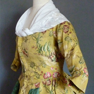 Robe a la Polonaise Silk 1760's; Dress 1775-80