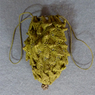Pineapple Knitted Reticule c 1800