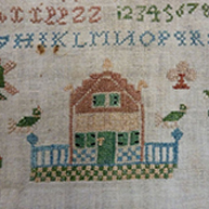 Freisan Sampler unfinished 1741