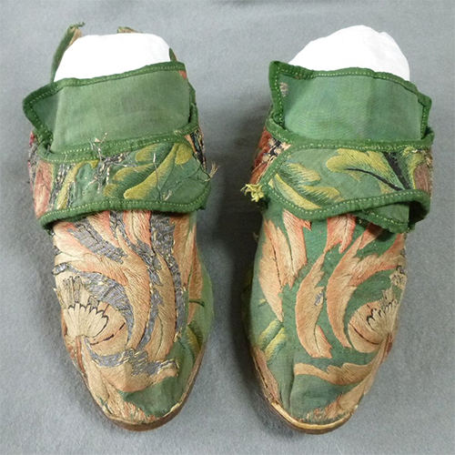 Embroidered Shoes 1740's/50's