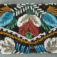 Cree Indian Beadwork Wallet Last quarter 19th c