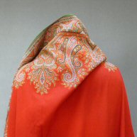 Scottish Scarlet Shawl 1840's
