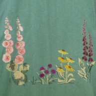 Embroidered Summer Flowers 1920's