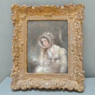 Girl in Gown & Bonnet 1820's