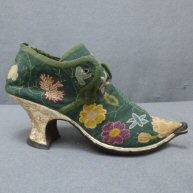 Embroidered Shoe 1730's