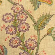 A pair of Linen Printed Curtains 1910-30