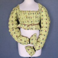 Yellow printed bodice 1825