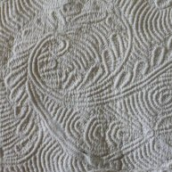 Queen Anne Cord  Trapunto Quilting Early 18th c