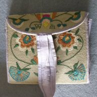 American Embroidered Reticule 1790's