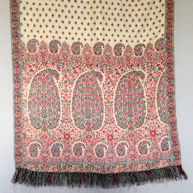 Indigo/Madder Drawloom Stole  c 1815