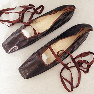 Bronze Glace Kid Shoes c.1830
