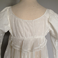 Gown with Peplum c 1805