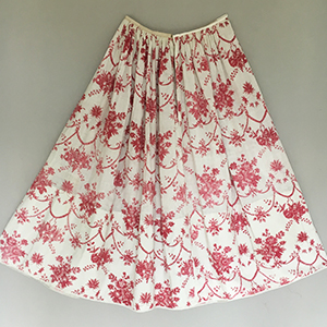 Toile Skirt Early 19th century