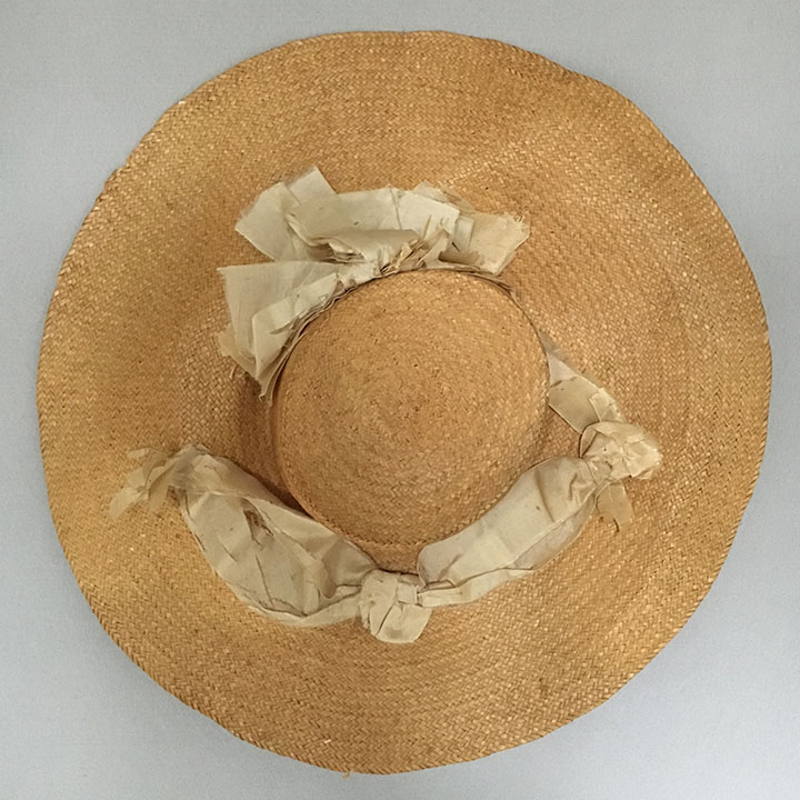 Straw Hat mid 19th c