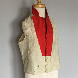 Scarlet Under Waistcoat Early 19th c