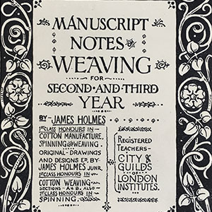 Manuscript Notes on Weaving 1900