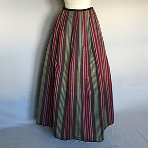 Norwich Camleteen Skirt 18th c fabric