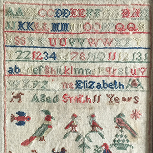 Yorkshire Sampler mid 19th c