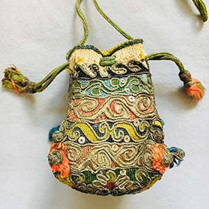 Knitted Purse 17th century
