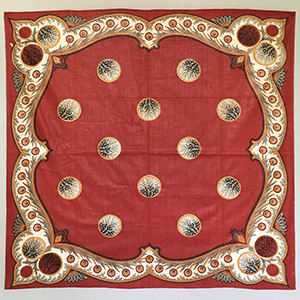 Men's Hand Block Printed Handkerchief Mid 19th c