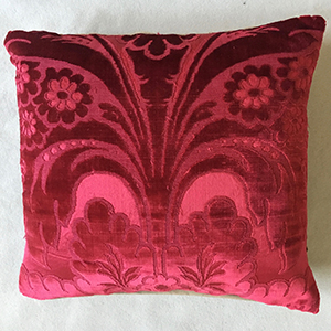 Two Cut Velvet Cushions 18th c