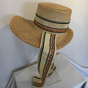 Straw Bonnet 1840s