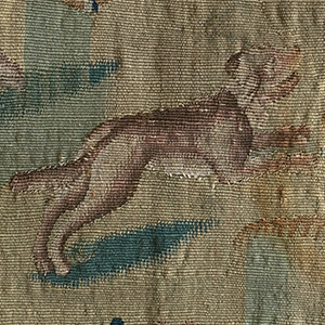 A Hound Tapestry 17th c