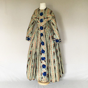 Printed Dress mid 1840s